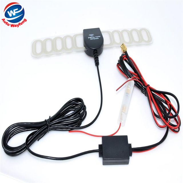 2016 SMA Car Digital TV Active Antenna Mobile Car Digital DVB-T ISDB-T Antenna Aerial with a Amplifier Booster WF(China (Mainland))