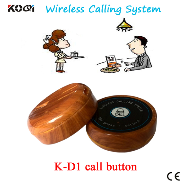 Best Promotion wireless button 10 pcs K-D2 call bell call waiter push button fast food restaurant table service Call Button(China (Mainland))