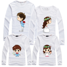 2016 Mother Daughter Look Family Clothes Father Mom Kids Long Sleeve T Shirt Boy Girl Clothing Plus Women Men Children Shirts