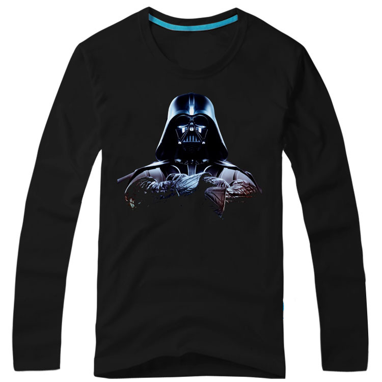 Star wars fashion print casual male 100 cotton long for 6 dollar shirts coupon code free shipping