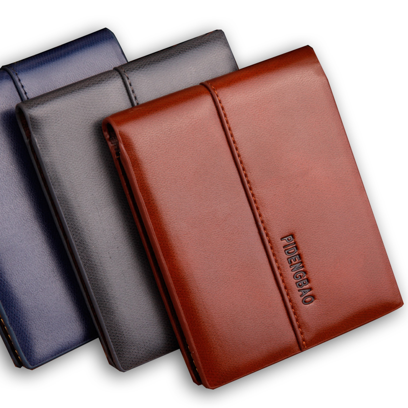 2016 minimalist designer soft leather men short bifold wallet male slim mini thin purse dollar price portomonee coin card holder(China (Mainland))