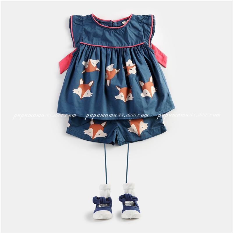 2016 kids clothes kids set FOX PANT+ T SHIRT jogging enfant garcon girls summer clothes vetement enfant fille girl set clothes<br><br>Aliexpress