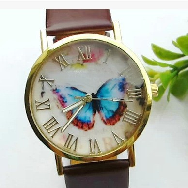 2015 High Quality 3 colors Womens Watches Men Quartz Watch Wrist Watch Butterfly  Leather Band watch 30pcs/lot <br><br>Aliexpress