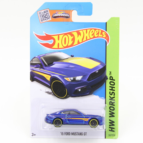 Free Shipping 1:64 Hot Wheels '15 FORD MUSTANG GT Alloy Collectible Model Toy Car For kids C4982(China (Mainland))