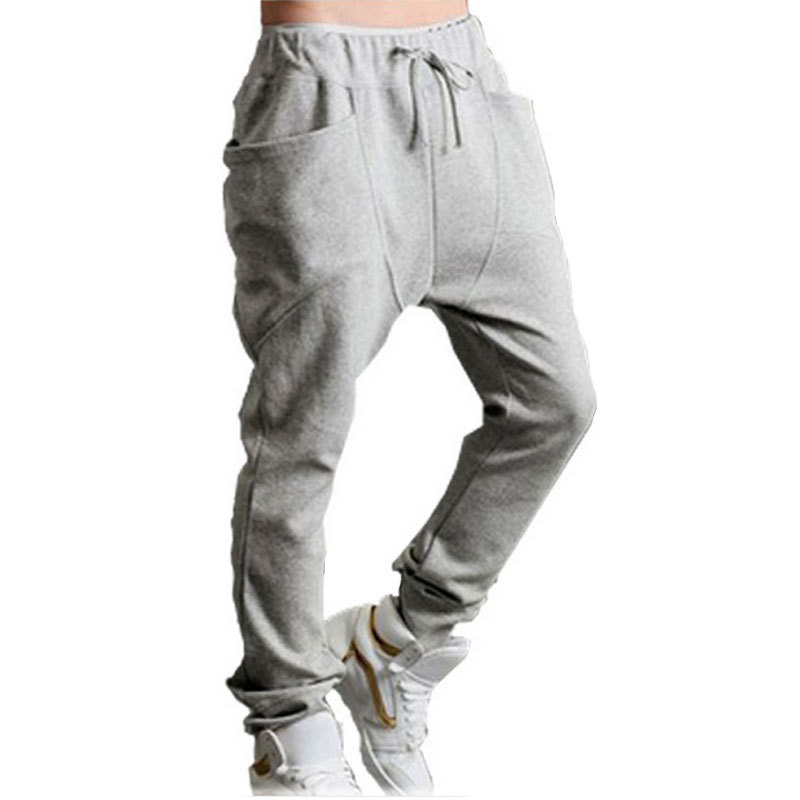 Fashion 2015 jogging men sweatpants cotton men's hip hop sports harem jogger Cool Harempants mens sweat track Joggers pants(China (Mainland))