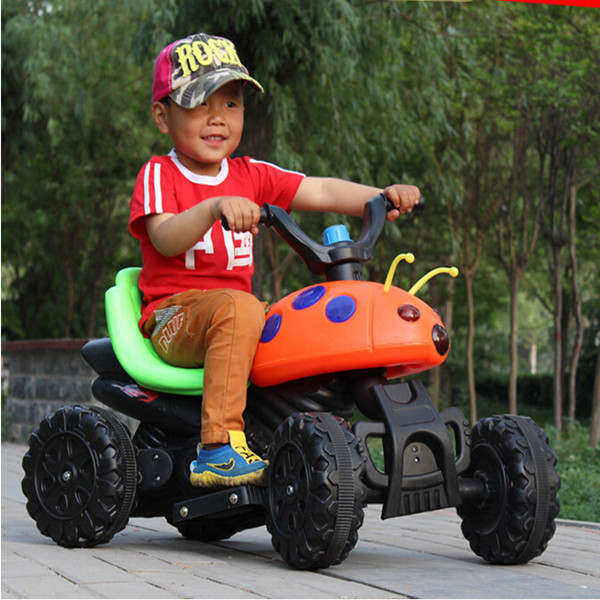 New Children electric car Children electric motorcycle tricycles and four-wheeled vehicle stroller toy car remote control car(China (Mainland))
