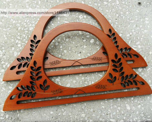 5 pairs 25cm handbag wood handle,diy bag hangers,hand bag hooks,wooden bag handles,sewing bag accessories Dropship ZP127(China (Mainland))