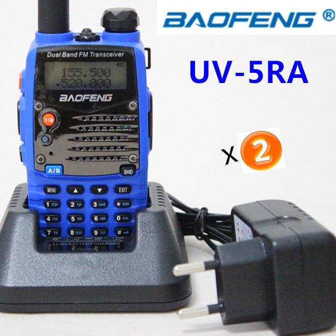 2pcs Free shipping BaoFeng UV-5RA Blue color Dual Band walkie talkie IP56 Waterproof VHF&UHF two way radio for Hunting Travel(China (Mainland))