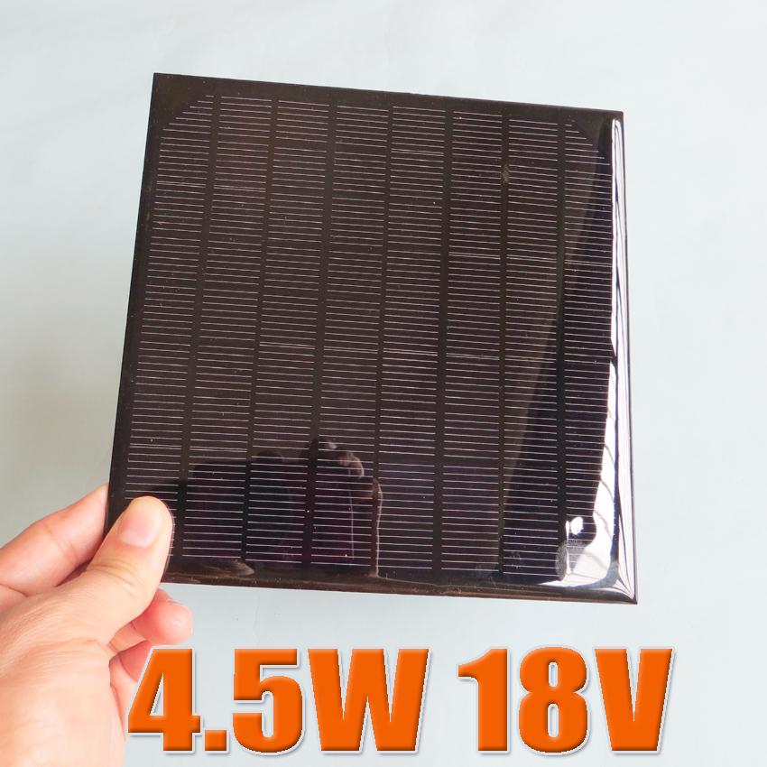 4.5W 18V Mini monocrystalline Mono solar cell battery 5W solar Panel charger for 12V battery education study DIY kits(China (Mainland))