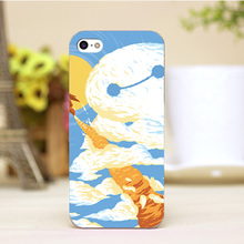 PZ0004-13-14 Cartoon For Baymax Design cellphone transparent cover cases for iphone 4 5 5c 5s 6 6plus Hard Shell