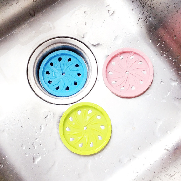 2931 Round deodorant toilet kitchen sink drain hair filter blocking plug silica gel adsorption1pcs(not 4pcs)cant choose color(China (Mainland))