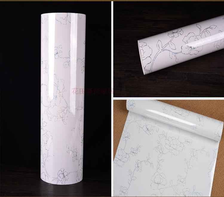3M Modern Glossy Laser PVC self adhesive wallpaper DIY home decor vinyl wall sticker waterproof kitchen cabinet refurbished film