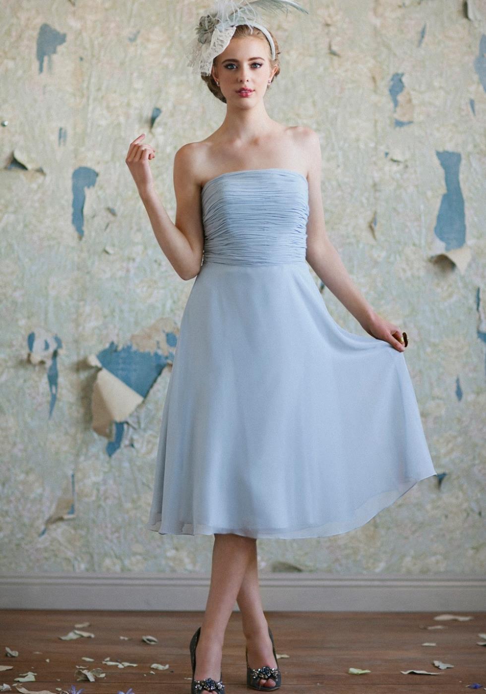 Powder Blue Bridesmaid Dresses