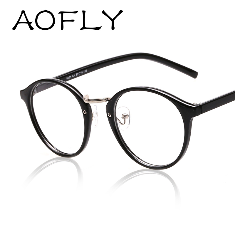 aofly fashion newest style round eyeglasses frame vintage glasses women men glasses frame optical frame glasses oculos femininos