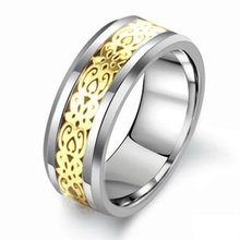 Buy Tungsten Carbide Titanium Rings Tungsten Ring Inlaid Band Finger Gold Silver Ring Men 7 8 9 10 11 Width 8mm for $12.87 in AliExpress store