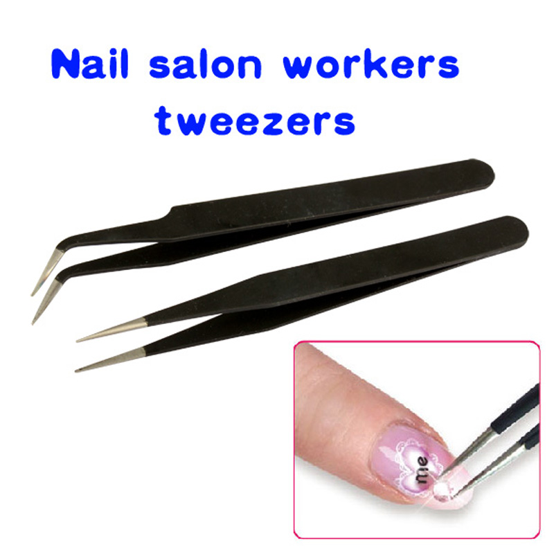 New 2016 beauty Nail tools 2 Black Acrylic Gel Nail Art Rhinestones Paillette Nipper Picking Tool nail cutter scissors