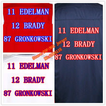 2016 new 12 Tom Brady jersey 87 Rob Gronkowski 11 Julian Edelman Jersey Men Elite game women kids youth football jerseys(China (Mainland))