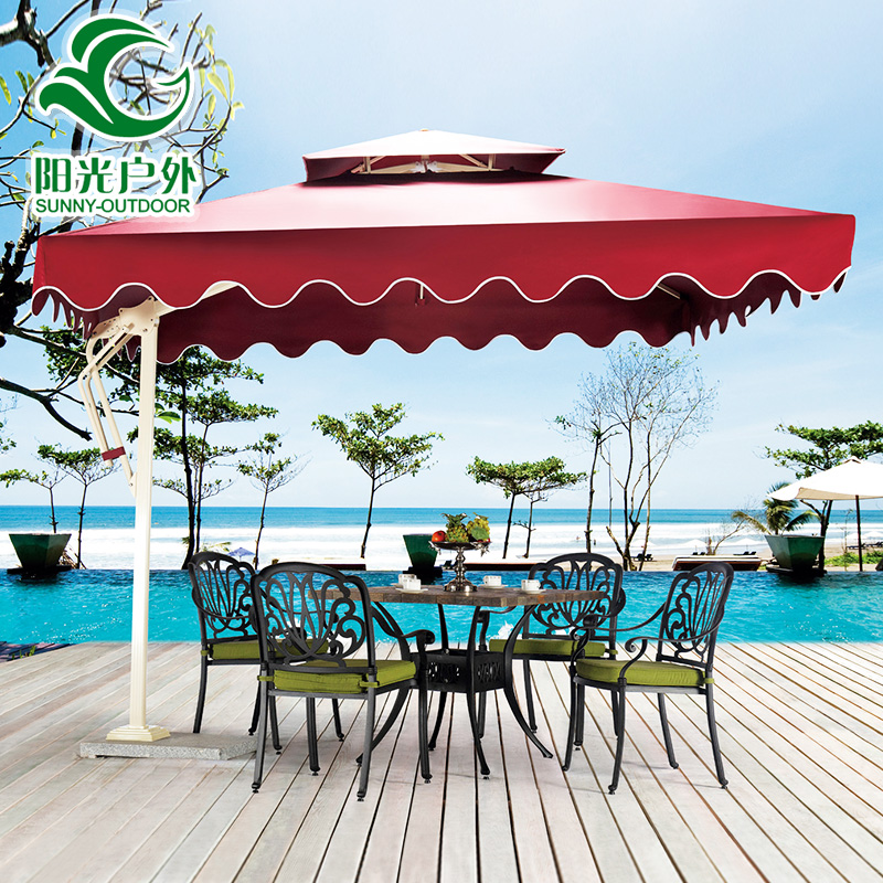 Outdoor patio umbrellas umbrella security guard post side column 3 m stall beach advertising folding<br><br>Aliexpress