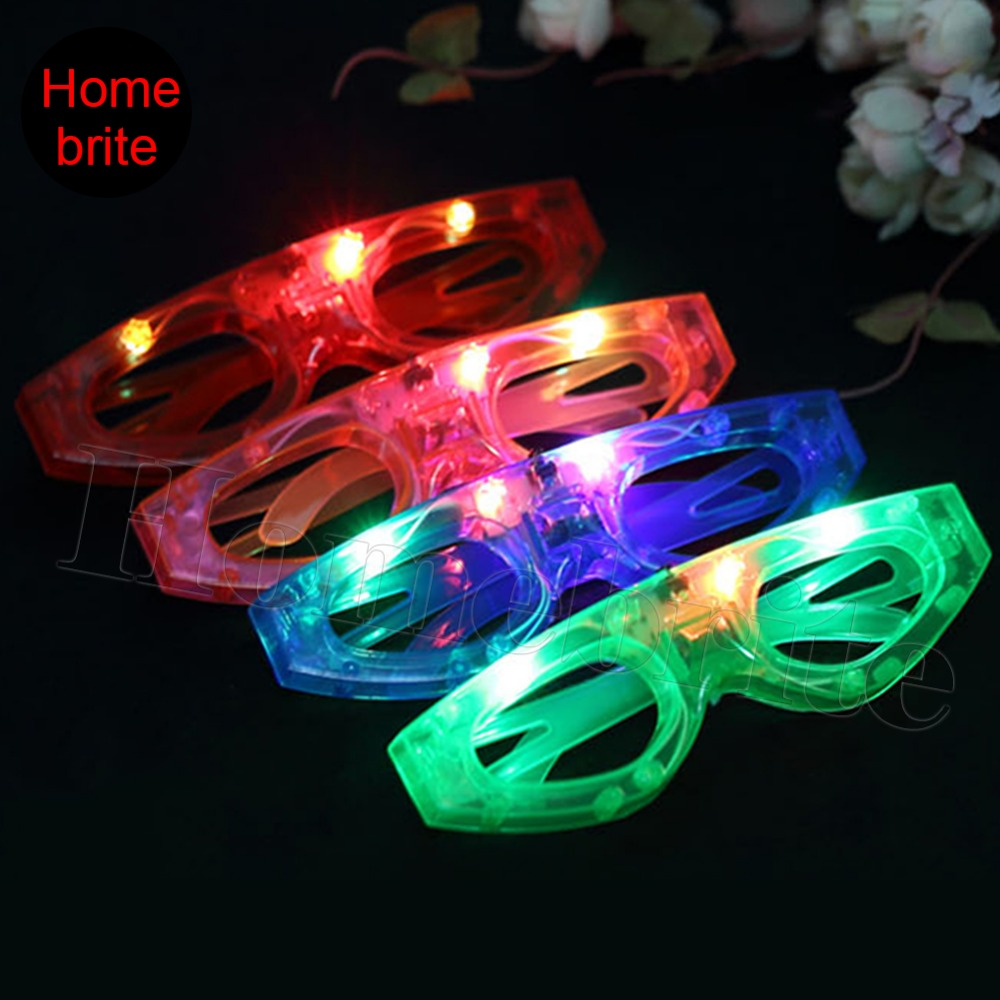 EI Glasses Event Party Supplies Blinking LED Blind Shutter Light UP Flash Eyes Glasses For Wedding Birthday Festival 1 PCS PT024(China (Mainland))