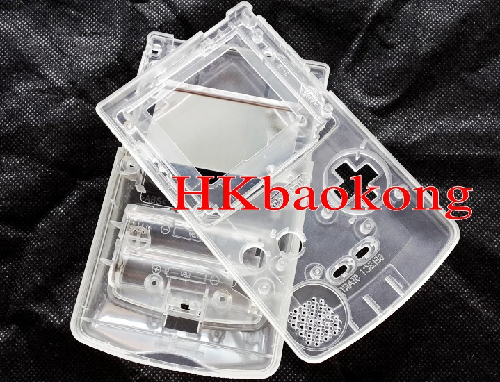 Crystal White Full Housing Shell Case Replace Cover Game B Color G Boy Console - Shenzhen Technology Co..Ltd store