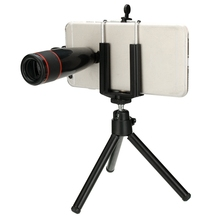Buy 8 1 12X Telephoto Lens Kit Fish Eye + Wide Angle + Marco Lens + Phone Holder + Tripod + Clip Universal Mobile Phones for $14.57 in AliExpress store