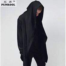 Europe&america Style New Hoody Sweatshirts Cloak Long Sleeves Men Shawl Outwear Streetwear Style Hooded Men's Plus Long Hoodies(China (Mainland))