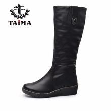 Marca TAIMA Nueva Llegada Del Invierno Mujeres Botas Moda Cálida Zip Cuñas Nieve Botas Damas Estilo de Mitad de la Pantorrilla Botas de Invierno Zapatos de las mujeres(China (Mainland))