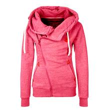 Women Hoody Autumn Winter Sportwear Thickening Plus Size Side Zipper Sweatshirt Hoodies 70032(China (Mainland))