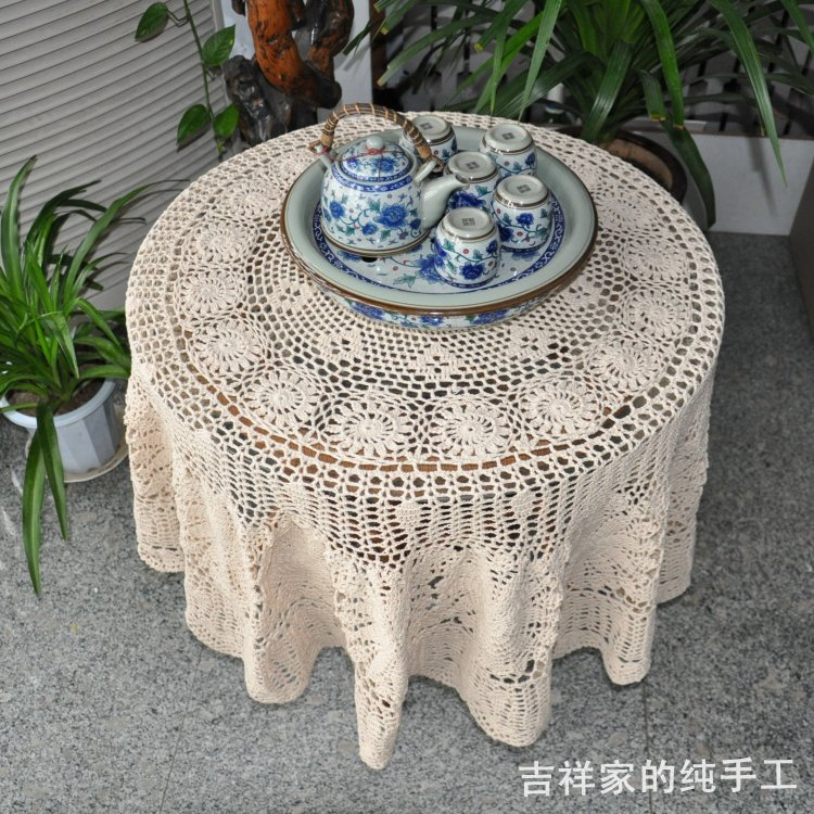 free shipping cotton crochet lace tablecloth cover for. Black Bedroom Furniture Sets. Home Design Ideas