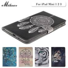 Fashion High Quality Painted With Stand Flip PU Leather sFor iPad Mini 2 1 Case For Apple iPad Mini 1 2 3 Smart Case Cover(China (Mainland))