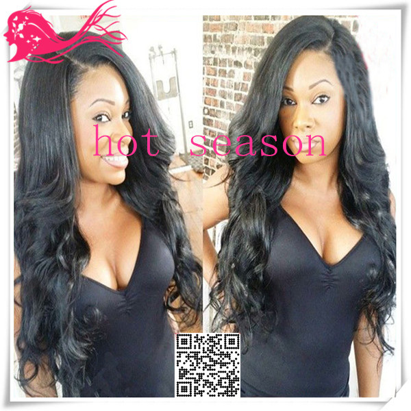 Malaysian Virgin Hair Lace Front Wig Wavy Full Lace Wigs Human Hair Natural Wavy U Part Wig With Baby Hair For African American(China (Mainland))