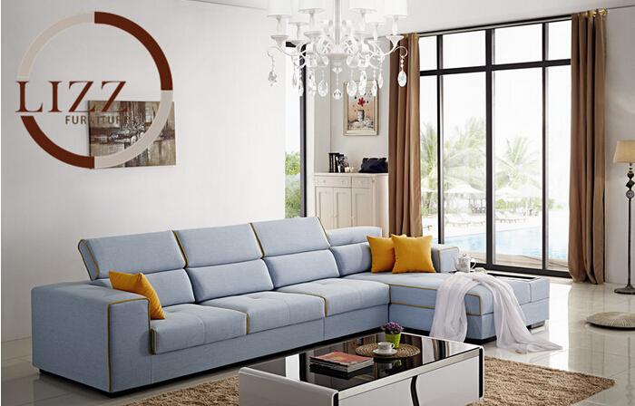 Lizz Modern Furniture New Product Sectional Fabric Sofa L shape corner sofa(China (Mainland))
