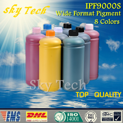 8 pcs High Quality Wide format Pigment Ink for Canon  IPF9000S , BK C M Y MBK PC PM Gy , 1L per color ,8L total<br><br>Aliexpress