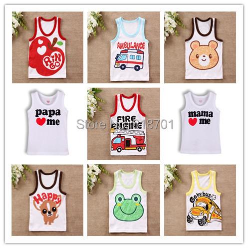 I love papa mama Baby t shirt Newborn Infants vest kids T-shirt children clothes for summer free shipping!(China (Mainland))