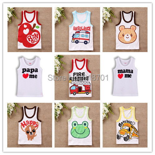I love papa mama Baby t shirt Newborn Infants vest kids T-shirt children clothes for summer free shipping!(China (Mainland))