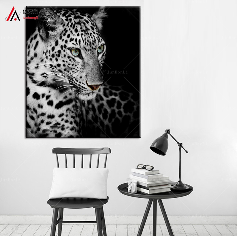 Free Shipping modern wall paintings of animals cheetah leopard home decor painting canvas art prints bedroom decoration pictures(China (Mainland))