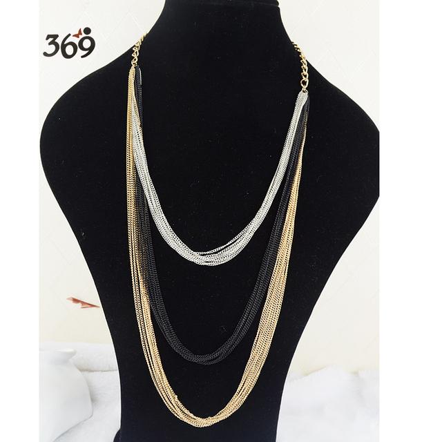 Fashion Hot wholesale simple iron chain Lady  punk long nacklace