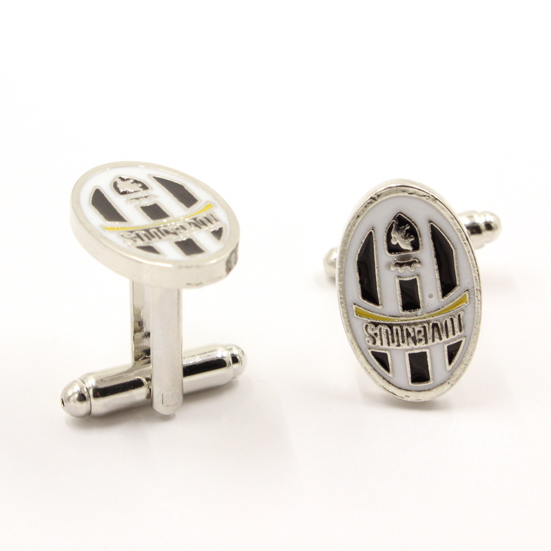 Italy Style Juventus Football Club Logo Cuff Links Top Grade Enamel Silver Cufflinks For Mens Friend Gifts Brand Cuff Buttons(China (Mainland))