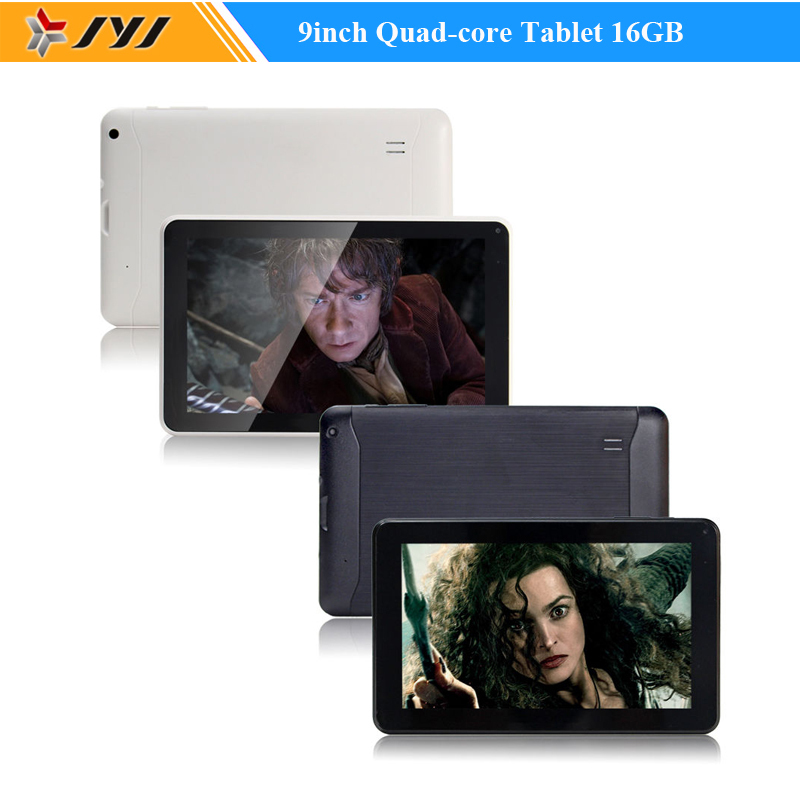 9inch Capacitive Allwinner Google Android 4.4 Kitkat 16GB Tablet PC Quad Core Dual cameras WIFI HDMI Free Shipping(China (Mainland))