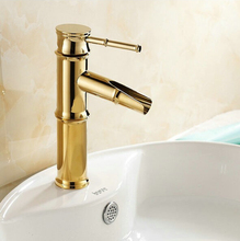 Buy Free Luxury New Fashion Gold Polished Brass Faucet Bathroom Basin Sink Mixer Tap Faucet water tap bathroom mixer 5524 for $39.90 in AliExpress store