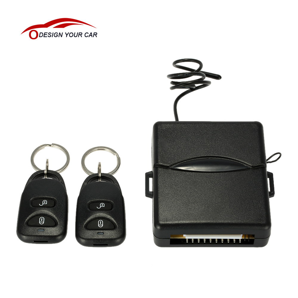 Universal Car Remote Central Lock Locking Keyless Entry System with Remote Controllers Auto Alarm Security System(China (Mainland))