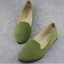 Плюс размер 2015 новая Мода женщины твердые конфеты цвет патент PU совет обувь женская балетки Повседневная обувь принцесса обувь(China (Mainland))