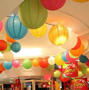 Chinese Round Paper Lantern Wedding And Festival Decoration Free Shipping(10pcs/Lot) 8''(20cm) Wedding Party Decoration(China (Mainland))