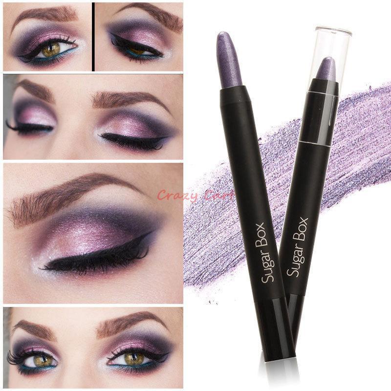 Sugar B Jumbo Eye Pencil Fashion Eyeshadow Pen Glam Shadow Stick Sex Color 10 Colors Optional Free Shipping(China (Mainland))