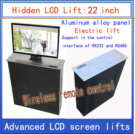 LCD, TV Lifter \ hidden \ Monitor Lifts \ lift bracket \ LCD electric lift \ wireless remote control movements \ 22-inch lift(China (Mainland))