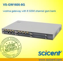 Openvox 8 GSM porta de entrada da porta VS-GW1600-8G Asterisk WebGUI sistema 8 GSM VoIP Gateway