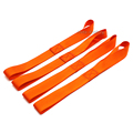 4 X Orange Universal Soft Loops Car Motorcycle Towing Ropes Tie Down Straps Prevent Scratches Motocross