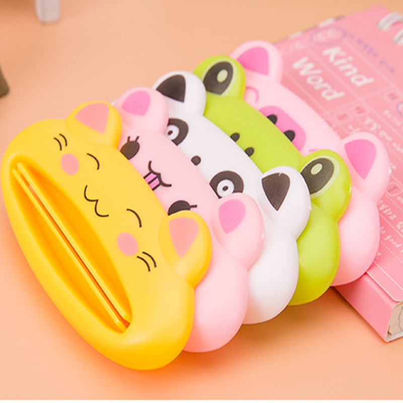 3pc Cute Cartoon Easy Tooth Paste Squeezer Toothpaste Tube Dispenser Rolling Holder Bathroom Automatic Toothpaste Dispenser(China (Mainland))