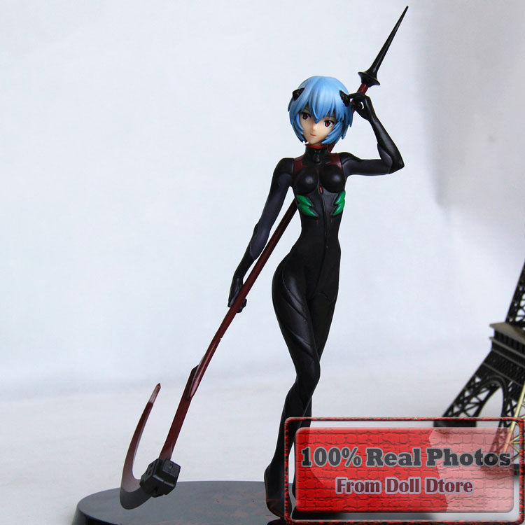 27cm Japanese anime figure Neon Genesis Evangelion Ayanami Rei Black Plugsui PVC Action Figure Collectible Model Toy(China (Mainland))