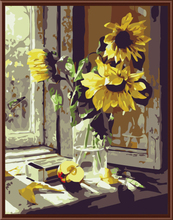 Sunflower DIY Oil Painting By Numbers Hand Painting Oil On Canvas Coloring By Numbers Wall Decor For Living Room G065(China (Mainland))